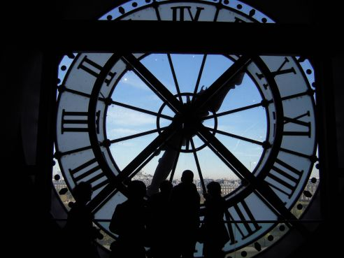 Film Noir style photograph Musee d'Orsay Clock
