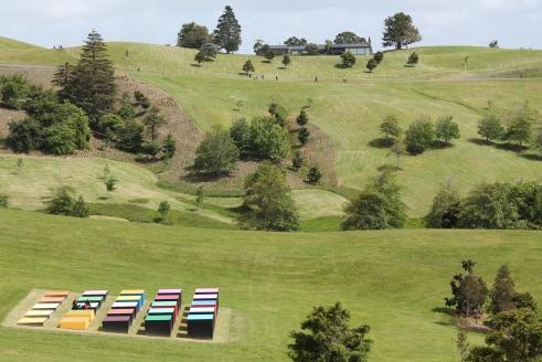 Gibbs Farm. Leon van den Eijkel - Red Cloud Confrontation in Landscape 1996