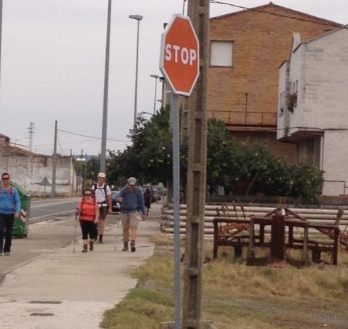 Santo Domingo de la Calzado, La Rioja - walking out to meet Team Anzac
