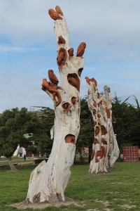 Tree sculpture Oamaru NZ