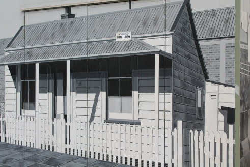 Railway cottage streetart NZ