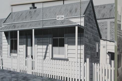 Railway cottage streetart NZ