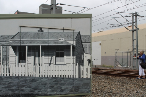Street art - railway house