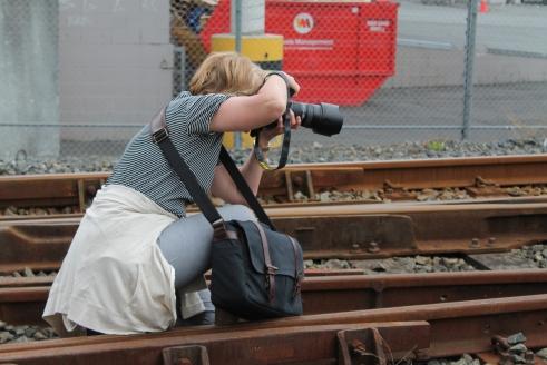 Photographer on the tracks