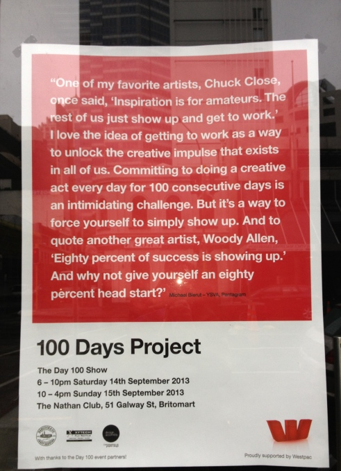 100 Days Project 2013 poster