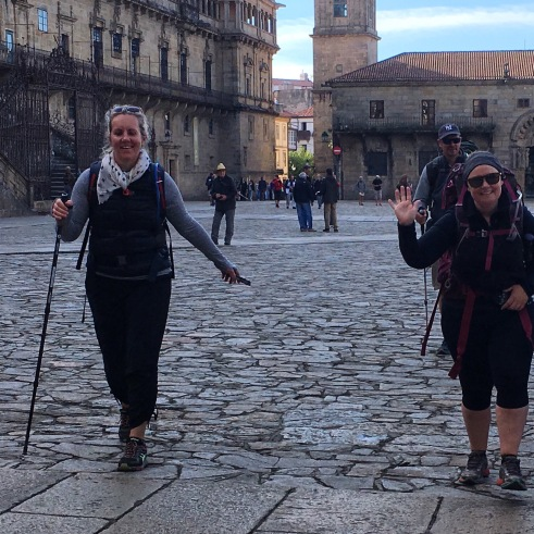 Crossing Camino Santiago finish line